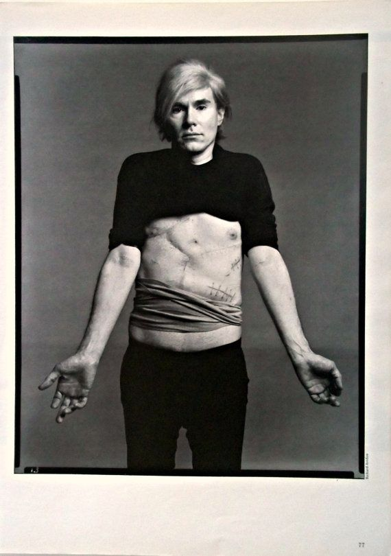 Andy Warhol scars, by cult fotografo Richard Avedon cult story