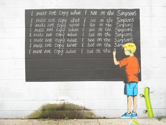 3. banksy-simpsons