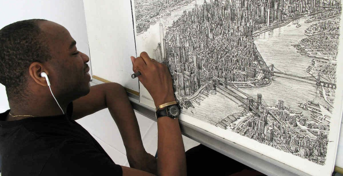 Stephen Wiltshire ritrae con incredibile esattezza Manhattan