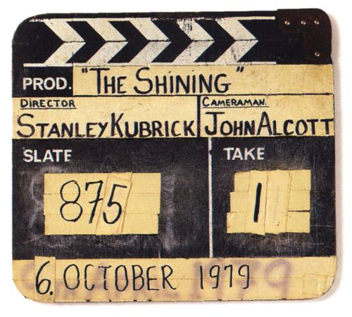 Cult Stories Kubricks ciak for The Shining cinema fotografia cult story