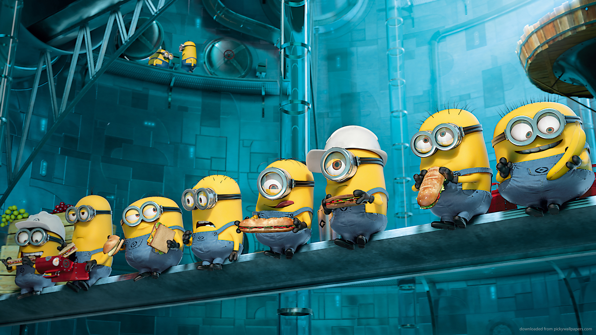 Cult Stories Minions Despicable me Lunch atop skyscraper parody parodia minions cattivissimo me