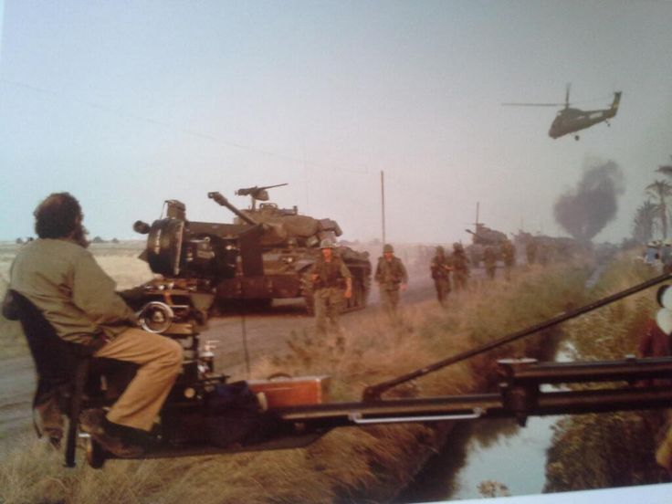 Kubrick sul set di Full Metal Jacket (1986)