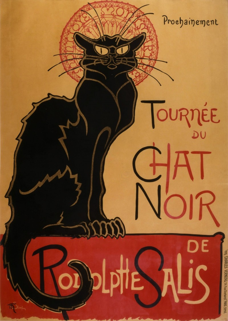 Steinlen, Tournée du Chat Noir ( in: ' CULTPHOTOS ')