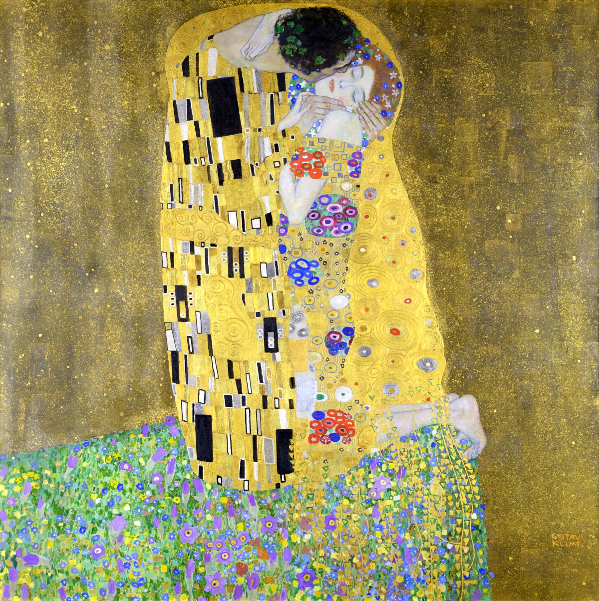 Gustav Klimt The Kiss Austria cult art arte deco art nouveau cultstories.altervista.org